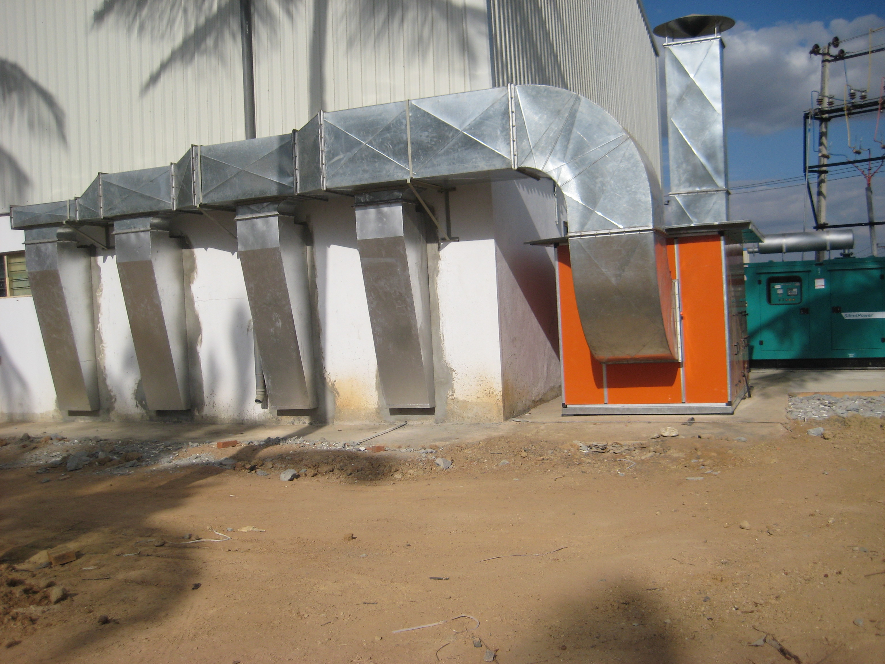 SprayPaintBooth-AHU with Ducting